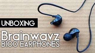 Brainwavz B100 Earphones Unboxing | Balanced Armature Drivers