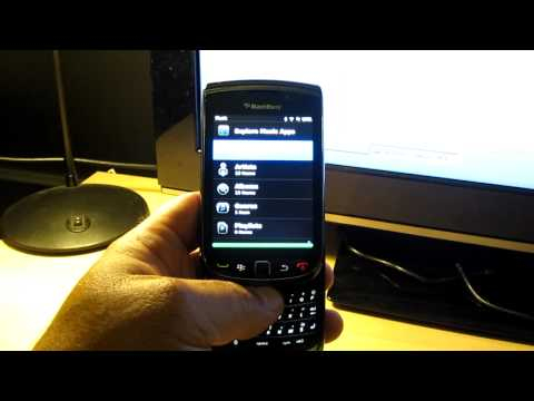 Blackberry Torch Music Install
