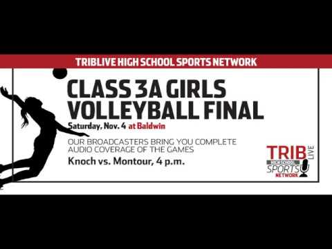 WPIAL Girls Volleyball Class 3-A Championship - Montour vs Knoch