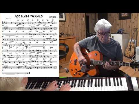 God Bless the Child - Jazz guitar & piano cover ( Arthur Herzog & Billie Holiday )