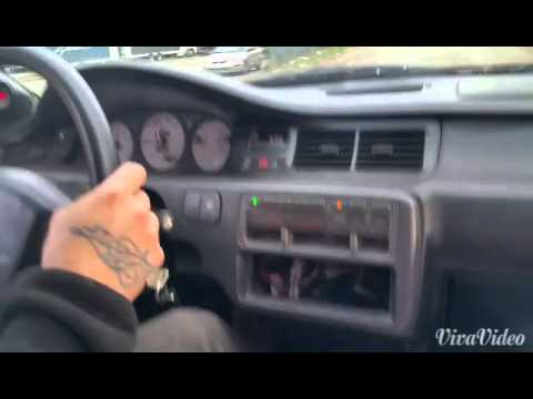 Eg civic hatchback turbo burnout from hell!!!💥🔥