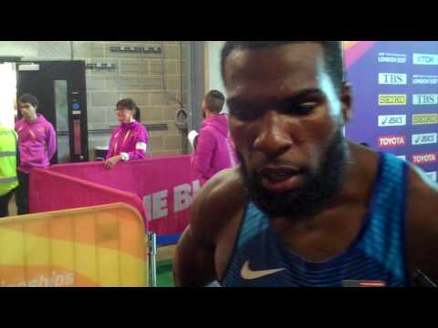 Ameer Webb Says Isaac Makwala Has an Advantage by Getting to Run By Himself in 200 Round 1