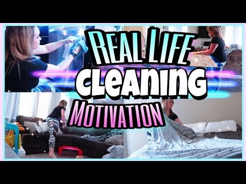 REALISTIC MESSY HOUSE CLEAN WITH ME ALL DAY CLEANING MOTIVATION