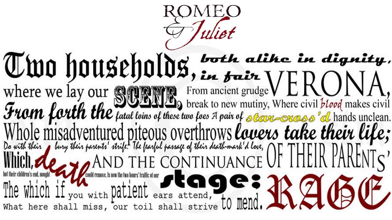 romeo and juliet prologue