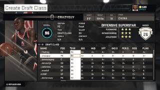 NBA 2K15 Roblox Basketball Legends Draft Class Updated