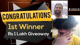1st Winner of 1 Lakh Giveaway Contest | Supplements and Free Online Training
