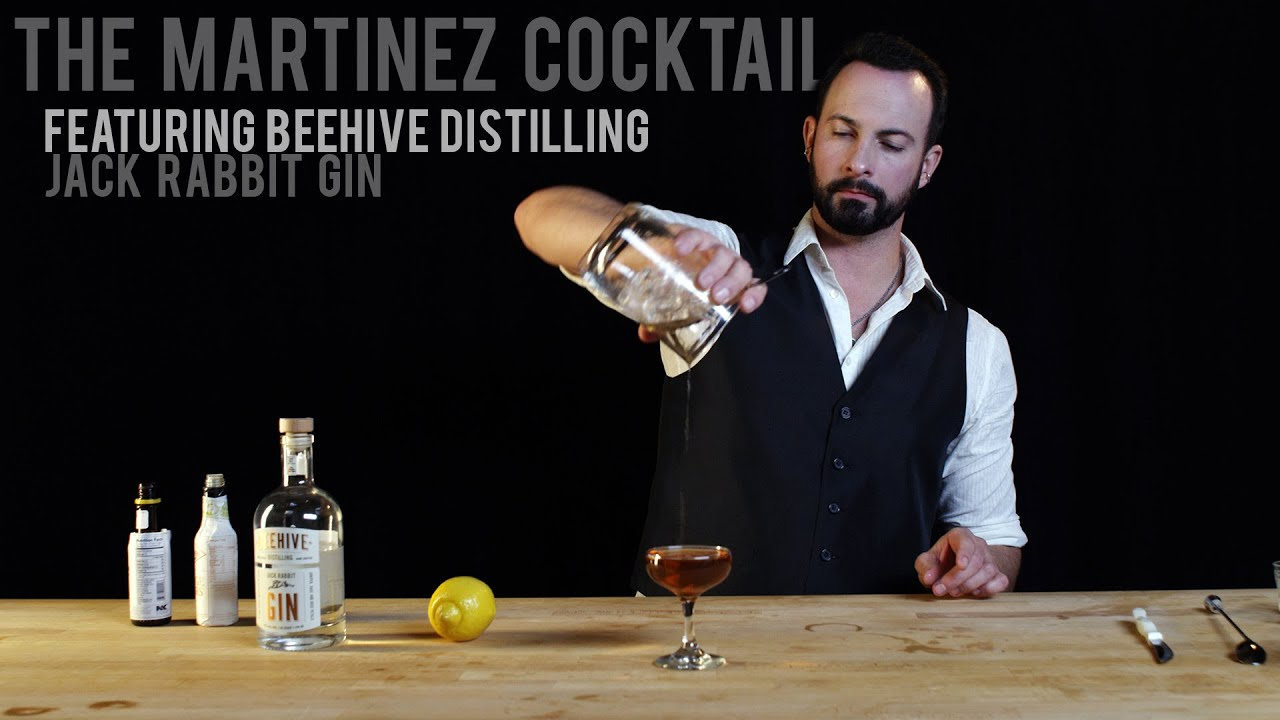 The Martinez Cocktail - Redux - Featuring Jack Rabbit Gin - YouTube