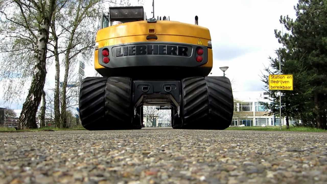Liebherr 313 Rubber Track Vts High Speed Youtube