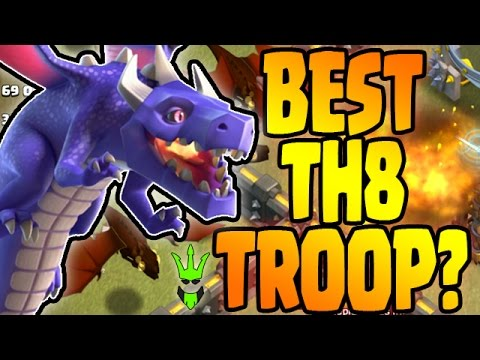 ARE DRAGON THE BEST TH8 TROOP? - Dragon Event - Clash of Clans - Best TH8 Farm & War Strategy