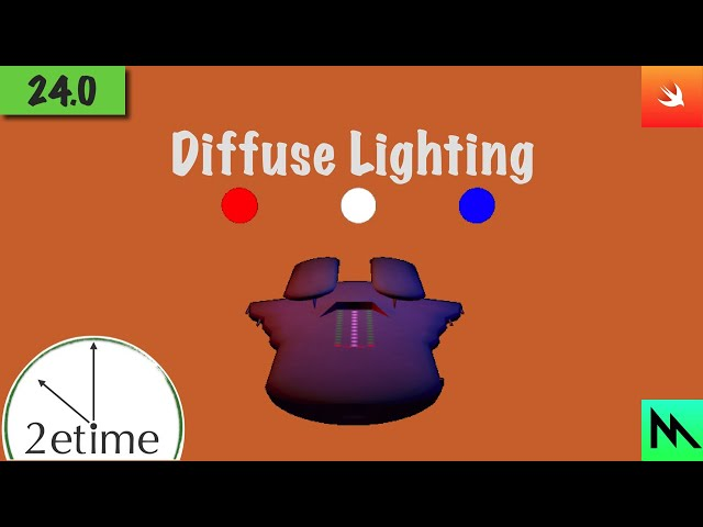 24: Phong Diffuse Shading | Swift Game Engine