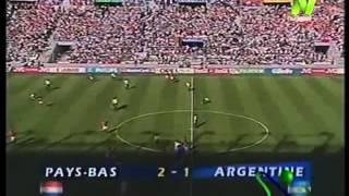 Holanda 2 Argentina 1 (Relato Victor Hugo) Mundial Francia 1998 Los goles