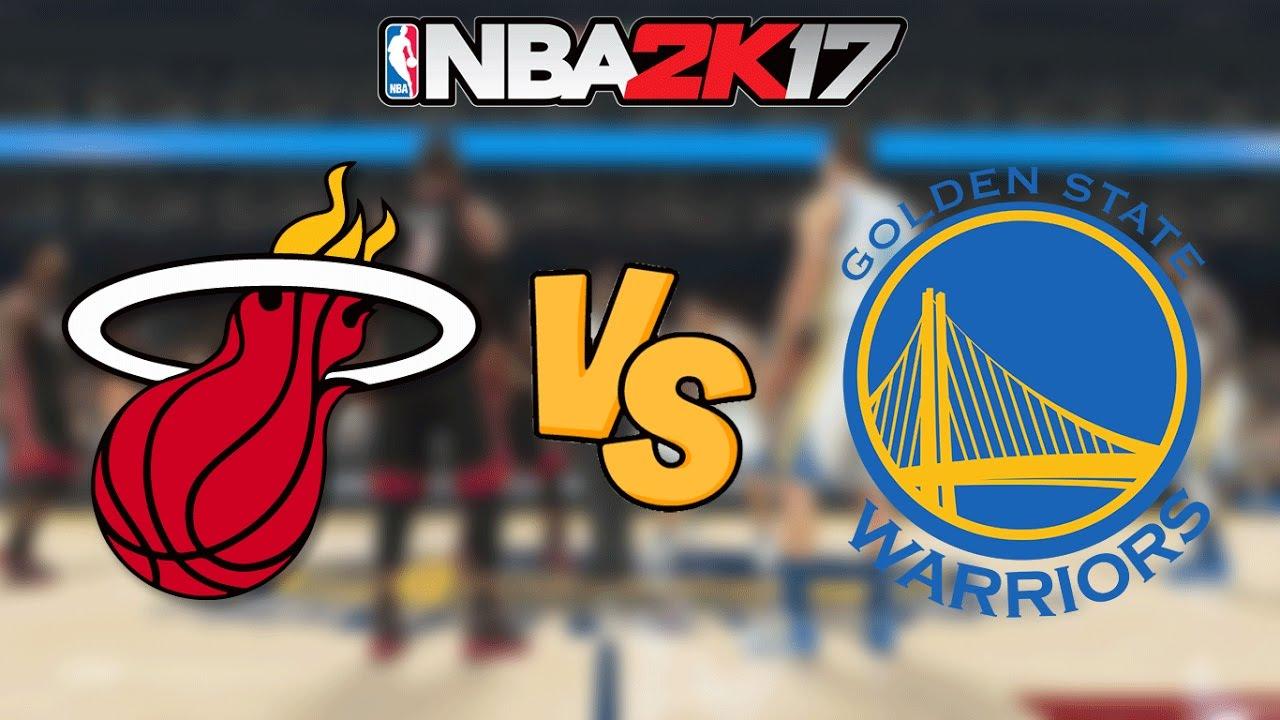 Miami heat lebron jamess vs golden state warriors nba2k17 miami - Nba 2k17 12 13 Miami Heat Vs Golden State Warriors Full Gameplay Youtube