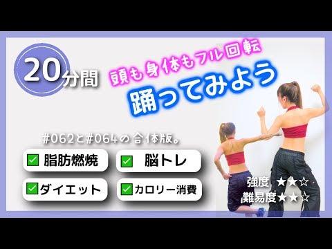 20分間 | 踊ってみよう | 脂肪燃焼ダンス | 脳トレにも | 中級者向け #065