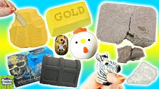 Squishy Dig It Bar! Digging For Gemstones, Pirate Treasure & Squishy Toys! Doctor Squish