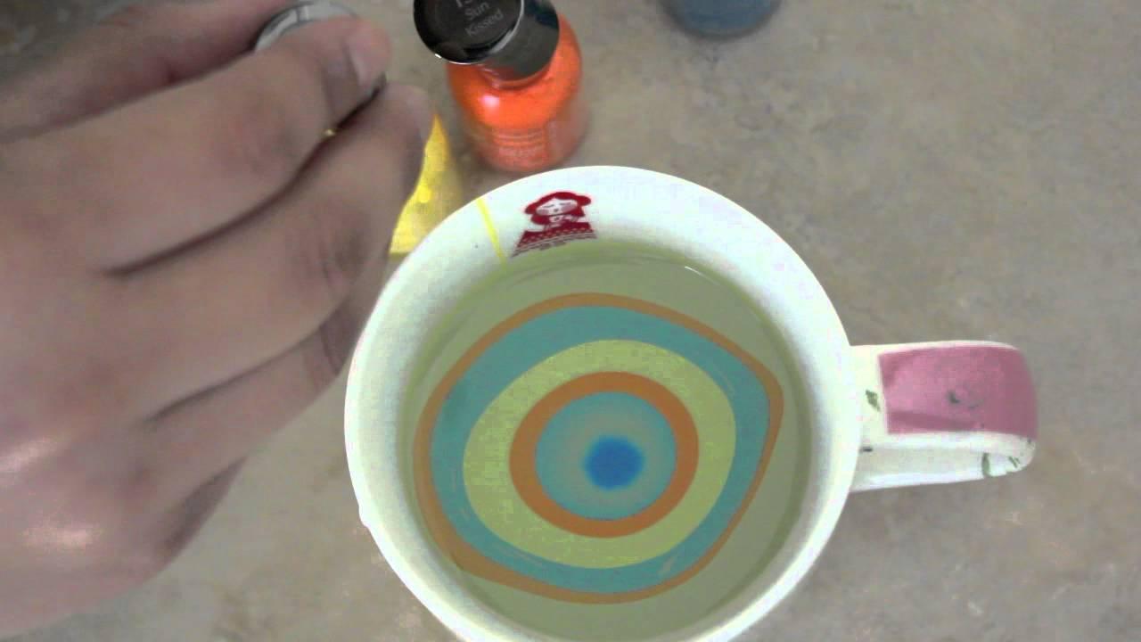 Tecnica para pintar uñas con agua! - YouTube
