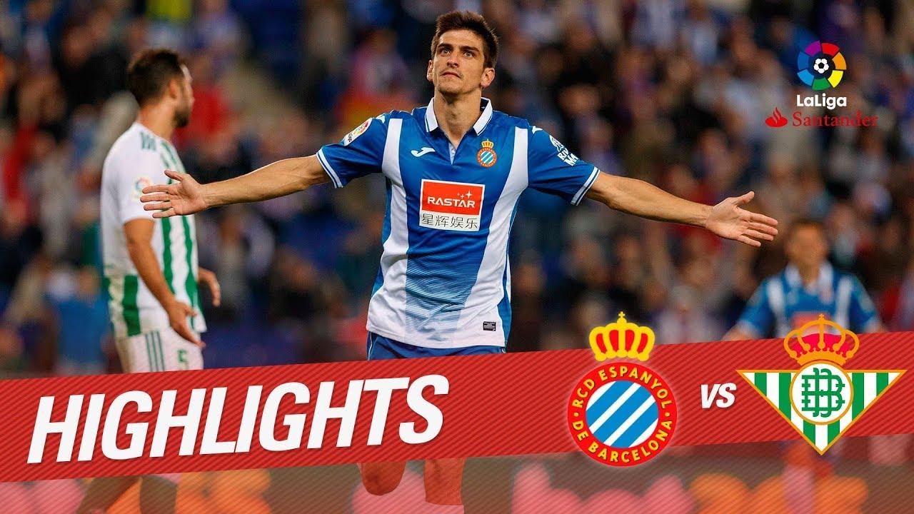 Resumen De Rcd Espanyol Vs Real Betis 1 0 Youtube