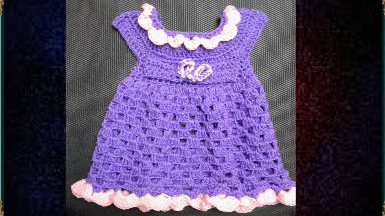01cd193ce كروشيه فستان بنوته عمر 3 - 6 شهور \Crochet Baby Dress # كولكشن collection #