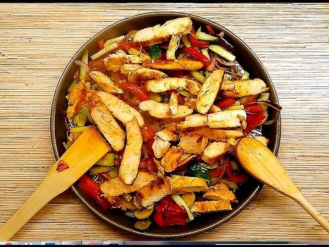 Салат из куриной грудки с овощами рецепт пошагово 3