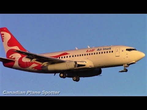 (40 YEARS OLD!) Air Inuit 737-200 in Action at Montreal-Trudeau Int'l Airport
