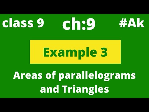 Class 9 THEOREM prove that medians divides a triangle into two triangles of equal areas