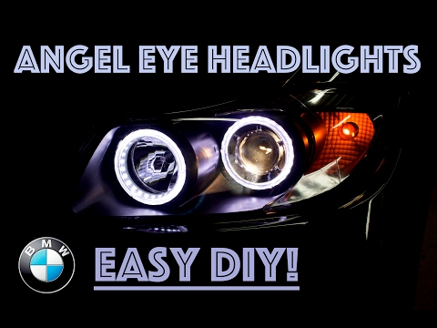 Angel Eye Headlight Upgrade // BMW E90