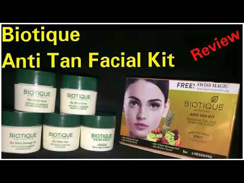 Biotique anti tan facial kit review | best detan facial kit full demo | unboxing unpacking