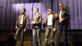 Trevor Peters, Rob, Ryan, Sam. Purdue Varsity Glee Club specialty group.