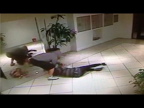 Apartment Building Inside caught on camera: lone korean woman attacked inside apartment