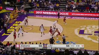 Alabama vs LSU Basketball Highlights 1-14-17