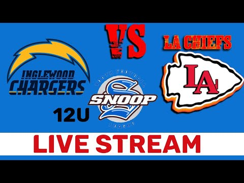 Live Stream | 12U Inglewood Chargers Vs LA Chiefs | Snoop Youth Football League