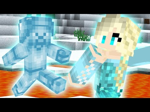 SAVING ELSA from FROST STEVE in Minecraft PE! thumbnail