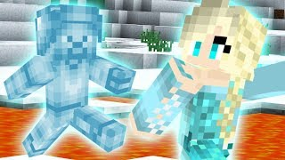 SAVING ELSA from FROST STEVE in Minecraft PE!