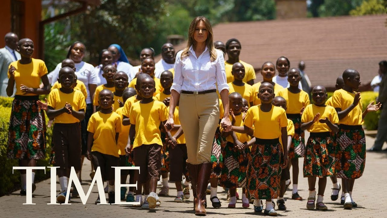 Melania Trump Dances With Children At Kenyan Orphanage On Africa Tour | TIME