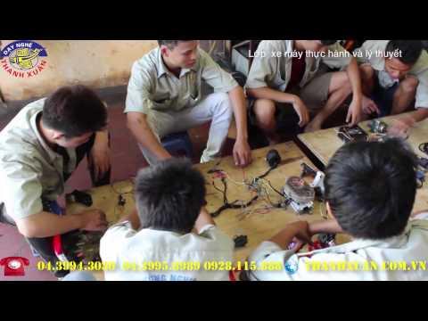 Lớp dạy nghề sửa chữa xe máy lý thuyết và thực hành tại Dạy nghề Thanh Xuân