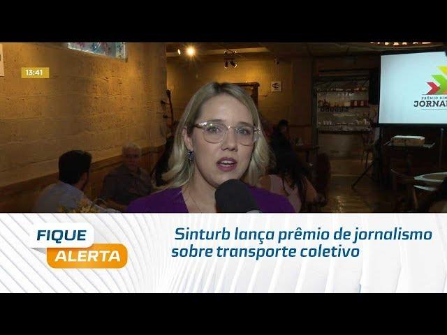 Sinturb lança prêmio de jornalismo sobre transporte coletivo, riscos e soluções