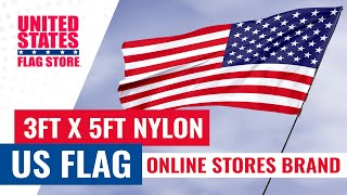3ft x 5ft Nylon US Flag (Online Stores Brand)