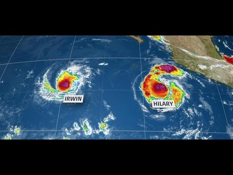 Fujiwhara effect in Western Pacific will create high surf in the Southern California coast