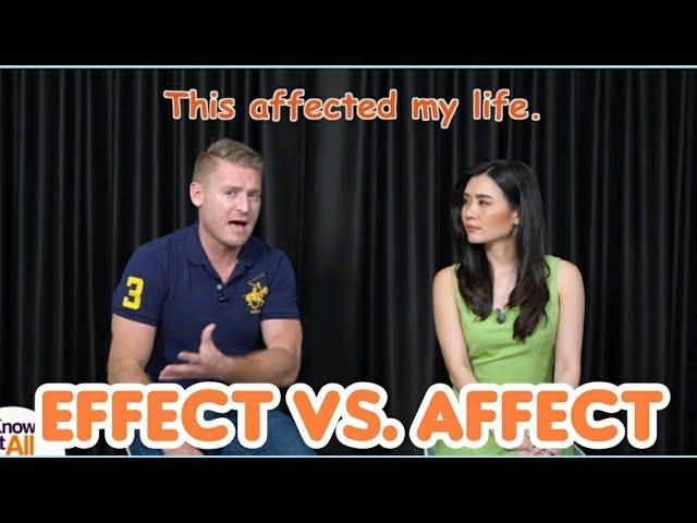Effect ไม่ใช่ เอฟเฟ็กต์ !! Effect กับ Affect ออกเสียงและใช้ต่างกันอย่างไรบ้าง ??