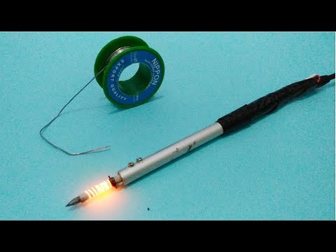 Cara membuat membuat solder 12v dari paku