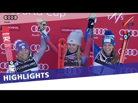 In-form Mikaela Shiffrin triumphs in giant slalom in Courchevel | Highlights