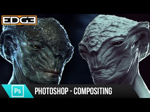 Photoshop Tutorial - Alien Creature Sculpt Compositing Techniques HD