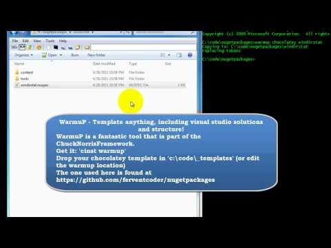 Create A Chocolatey NuGet Package - YouTube