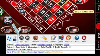 How Deluxe Win at Online Roulette CherryRed Casino in 4 min(http://spin4profit.com/casinos/ Free download today! Support all online casinos! How to use Spin4Profit Deluxe to win at this European Roulette at this top 10 ..., 2010-08-07T07:40:08.000Z)