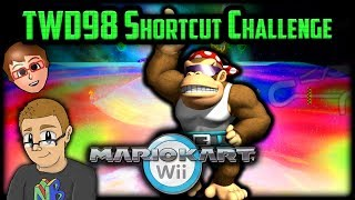 Mario Kart Wii Shortcuts - Nathaniel Bandy vs TWD98 Shortcut Challenge