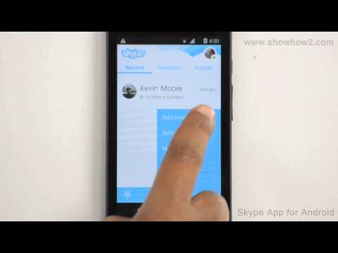 Skype Android App - How To Add People By Searching Skype Name