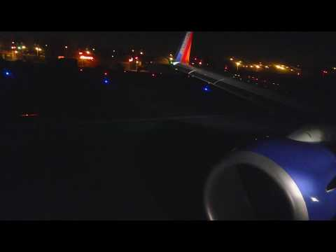 Night Takeoff Chicago-Midway Southwest 737-800