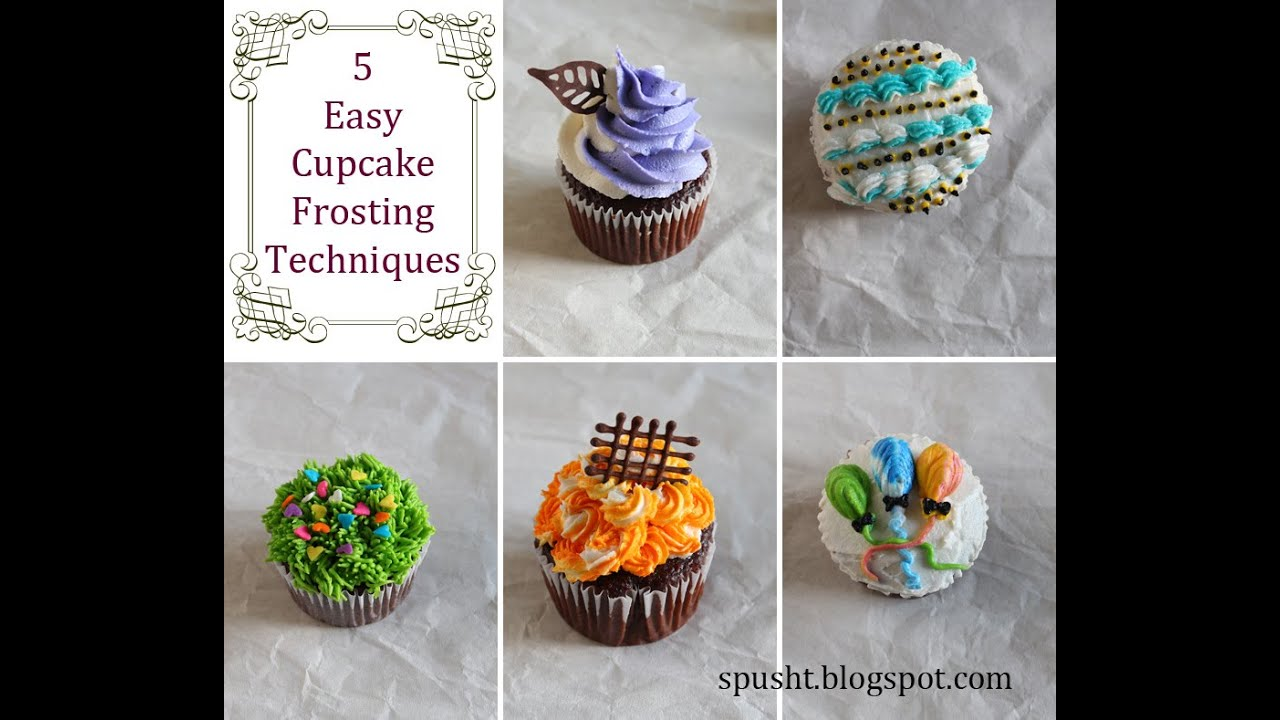 5 Easy Cupcake Decoration Ideas Icing Cupcakes Cupcake ...