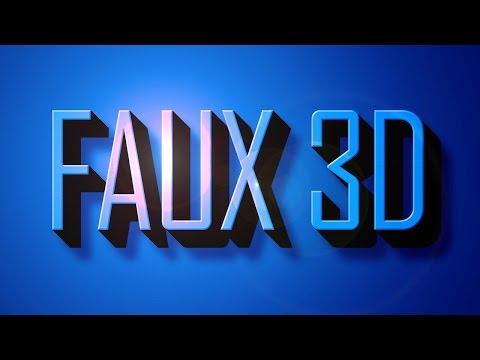 Hướng dẫn Photoshop: Cách tạo chữ 3-D tuyệt đẹp, FAUX