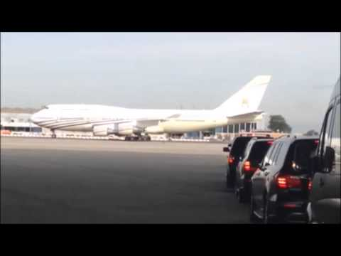 Sultan of Brunei arrives at JFK