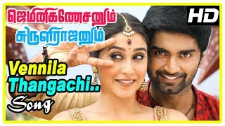 Gemini Ganeshanum Suruli Raajanum Scenes | Vennila Thangachi Song | Atharva and Regina break up